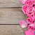 valentines day background with gift box full of pink roses stock photo © karandaev
