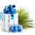 natal · caixa · de · presente · azul · isolado · branco · amor - foto stock © karandaev