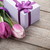 fresh tulips with gift box stock photo © karandaev