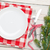 üres · tányér · ezüst · étkészlet · törölköző · fa · asztal · felülnézet - stock fotó © karandaev