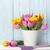 tulipán · törölköző · természet · rózsaszín · szirmok · virágmintás - stock fotó © karandaev
