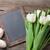 rosa · tulipanes · huevos · de · Pascua · primavera · fondo - foto stock © karandaev