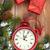 karácsony · ajándékdobozok · óra · fenyőfa · ébresztőóra · hó - stock fotó © karandaev