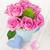 kézzel · készített · kártya · rózsaszín · rózsák · üzenet · világoskék - stock fotó © karandaev