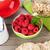 sağlıklı · kahvaltı · müsli · karpuzu · süt · ayarlamak - stok fotoğraf © karandaev
