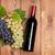 vörösbor · üveg · üveg · szőlő · alakú · fa · asztal - stock fotó © karandaev
