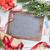 christmas chalkboard gifts decor and fir tree stock photo © karandaev