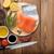 frescos · salmón · filete · especias · romero · peces - foto stock © karandaev