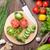 frescos · jardín · hortalizas · cocina · mesa · de · madera - foto stock © karandaev