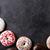 ドーナツ · 紙 · 背景 · 表 · 袋 · 朝食 - ストックフォト © karandaev