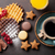 kávé · édesség · bogyók · felső · kilátás · copy · space - stock fotó © karandaev
