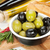 italian food appetizer of olives bread and spices stock photo © karandaev
