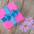 purple gift box and gerbera flowers stock photo © karandaev
