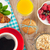ontbijt · müsli · bessen · sinaasappelsap · koffie · croissant - stockfoto © karandaev