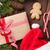 christmas gift box and santa hat stock photo © karandaev