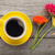 чашку · кофе · цветы · букет · белый · деревянный · стол · Top - Сток-фото © karandaev