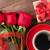 vörös · rózsák · valentin · nap · kártya · üdvözlőlap · fából · készült · felső - stock fotó © karandaev