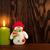 rosso · brucia · Natale · candela · evergreen · rustico - foto d'archivio © karandaev