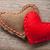 Rood · pluche · hart · witte · geïsoleerd · liefde - stockfoto © karandaev