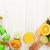 narenciye · meyve · sepet · portakal · limon · ahşap · masa - stok fotoğraf © karandaev