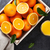 fresh orange fruits and juice stock photo © karandaev