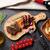 焼き · ステーキ · まな板 · 石 · 表 - ストックフォト © karandaev