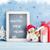 christmas chalkboard snowman and gift box stock photo © karandaev