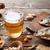 alman · birası · bira · kupa · ahşap · masa · fındık - stok fotoğraf © karandaev