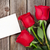 red roses and valentines day greeting card stock photo © karandaev