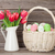 easter eggs and tulips bouquet stock photo © karandaev