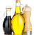 olive oil and vinegar bottles with pepper shaker stock photo © karandaev