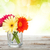 laranja · flores · vaso · madeira · natureza - foto stock © karandaev