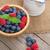 frambozen · kom · vers · mint · voedsel · licht - stockfoto © karandaev