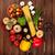 domates · fesleğen · zeytinyağı · baharatlar · ahşap · masa · pişirme - stok fotoğraf © karandaev