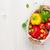 свежие · овощи · корзины · деревянный · стол · Top · мнение · копия · пространства - Сток-фото © karandaev