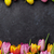 colorful easter eggs and tulips stock photo © karandaev