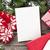 christmas · groet · kaart · oude · foto · frame - stockfoto © karandaev