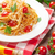 спагетти · пасты · помидоров · петрушка · деревянный · стол · Top - Сток-фото © karandaev