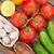 színes · egészséges · friss · gyümölcsök · zöldségek · lövés - stock fotó © karandaev