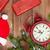 Noel · ahşap · saat · hediye · kutuları · kar - stok fotoğraf © karandaev