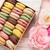 színes · ajándék · doboz · rózsák · rózsa · virágok · fa · asztal - stock fotó © karandaev