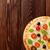 Italiaans · pizza · kaas · tomaten · olijven · basilicum - stockfoto © karandaev