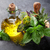 garden herbs in mortar stock photo © karandaev