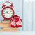 christmas alarm clock and mittens stock photo © karandaev