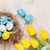 húsvét · kék · fehér · tojások · fészek · citromsárga - stock fotó © karandaev