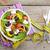 fresh healthy salad silverware and measure tape stock photo © karandaev