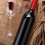 red wine bottle glass cork and corkscrew view from above stock photo © karandaev