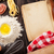 fatto · in · casa · pasta · cottura · vintage · libro · tavolo · in · legno - foto d'archivio © karandaev