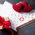 gyönyörű · romantikus · valentin · nap · üdvözlőlap · fehér · szívek - stock fotó © karandaev