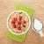 healty breakfast with muesli berries and milk stock photo © karandaev